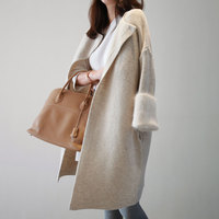 Korean Autumn Spring Long Cardigan Female Open Stitch Loose Long Sleeve Knitted Cardigans Sweater Women Cardigan