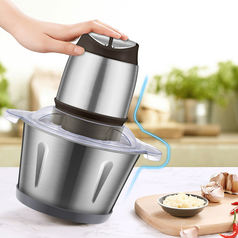 Meat Grinders Home meat grinder electric stirring stainless steel bowl minced and vegetables stir-fry dumplings NEW meat grinders grinder uses an electric stainless steel to churn the minced dumplings new