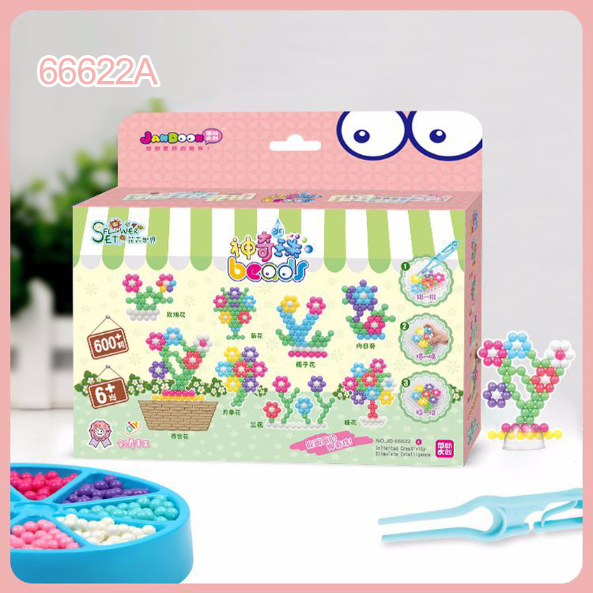 DOLLRYGA 600pcs/set Water Sticky Beads Toys Magic Handmade DIY Beads Paper Accessories Puzzle Toys For Children Kids Gift 66622A