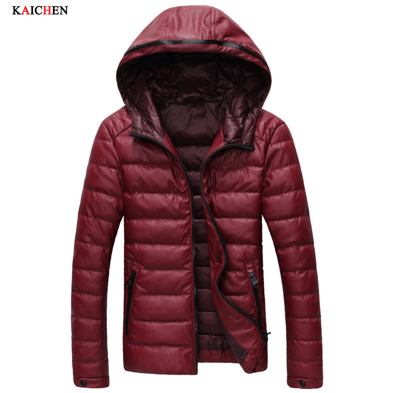 Men's Down Jackets Mens Brand Leather Thick Warm Fur Collar Hooded Duck Down Coat Male Casual Winter Jacket Men down coat winter jacket men hooded parka with fur collar duck down jackets thick warm long outerwear male brand clothing