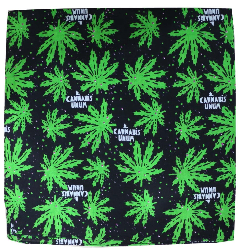 Free Shipping 2018 Punk Green Weed leaf Bandanas For Mens Male