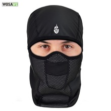 WOSAWE PU Leather Waterproof Motorcycle Bandana Thermal Warm Up Balaclava Motocross Skiing Face Mask Neck Scarf Caps
