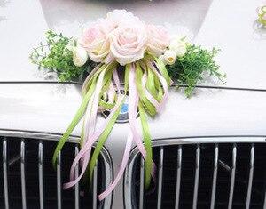 Image 5 - Kyunovia Hochzeit Auto Zubehör Auto Dach Schwanz Simulation Dekoration Hochzeit Auto Dekoration Blume KY131