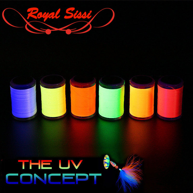 New 6 optional UV fluo colors standard 6/0 fly tying thread 150D polyester filaments thread trout bass pike flies exclusive-use