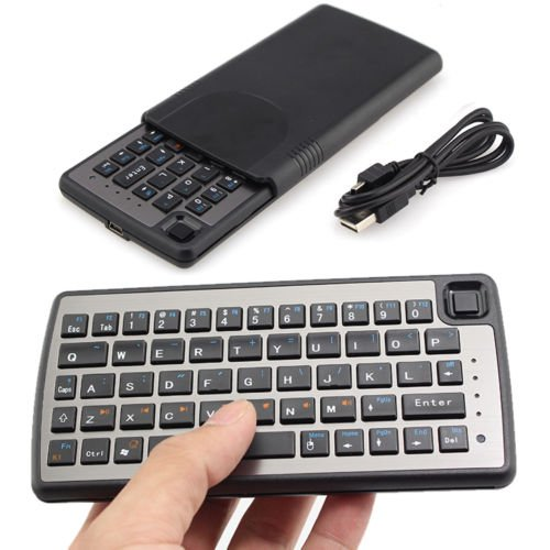 rechargable handheld remote control wireless mini keyboard with touchpad mouse for pc android. Black Bedroom Furniture Sets. Home Design Ideas