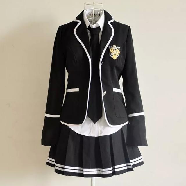 Enfants uniforme scolaire de vêtements et manches longues chœur de l école  primaire étudiants lecture 52b6c9fa3279