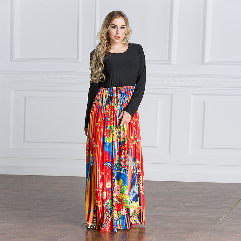 2019 femmes Caftan Marocain turc vêtements islamiques Patchwork robe musulmane Caftan Abaya dubaï arabe Islam turquie robe