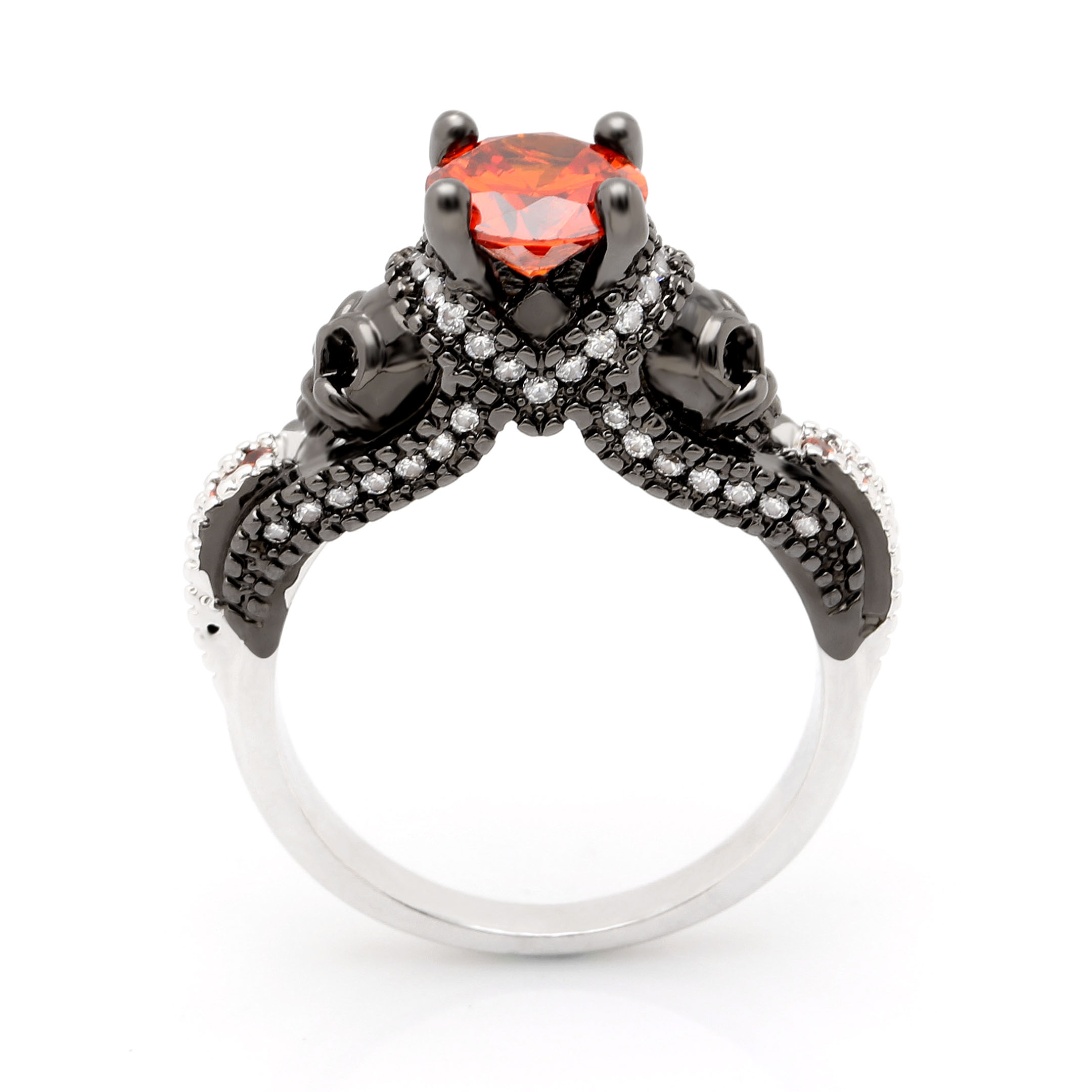 punk rings idea of beautiful engagement size gothic new uk rock full wedding