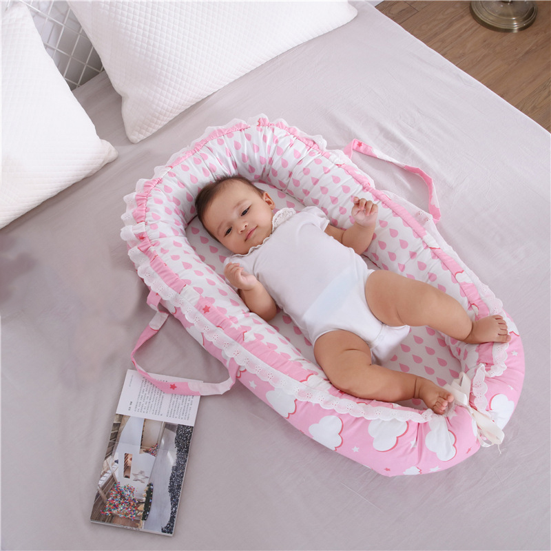 Baby Bassinet Nursery Bedding Mattresses For Bed Portable Baby Lounger For Newborn Crib Breathable And Sleep Nest New