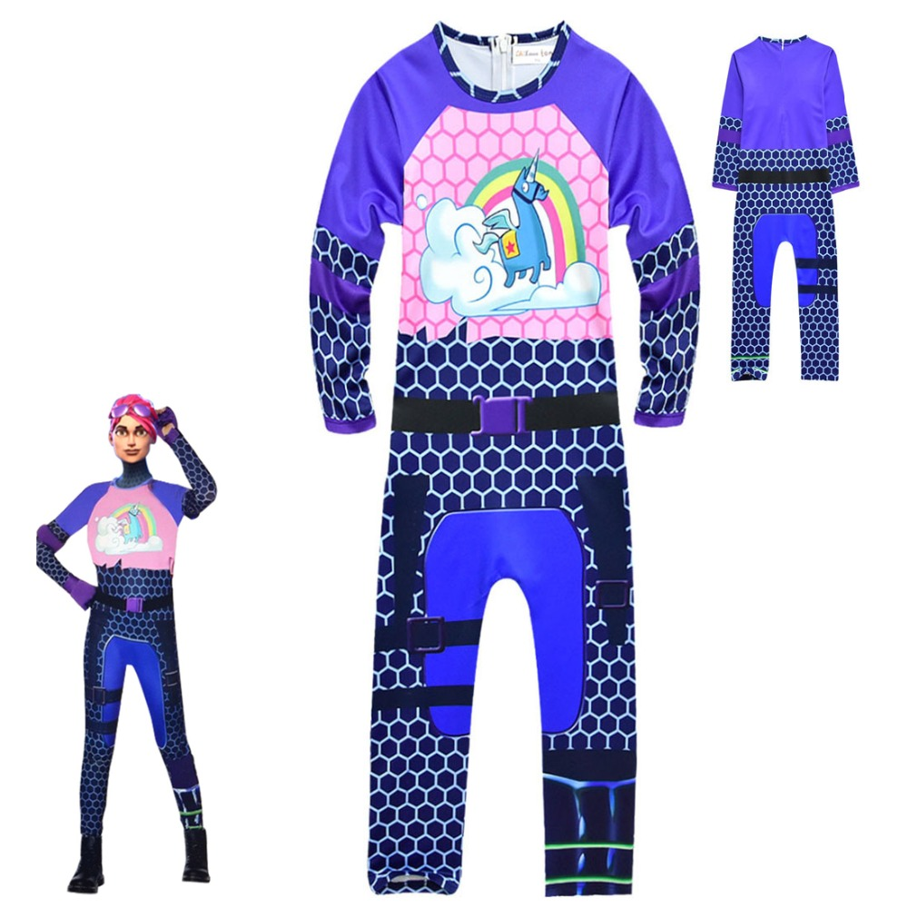 Kids Children Game Cosplay Costume Brite Bomber Rainbow Horse Zentai Bodysuit Suit Jumpsuits