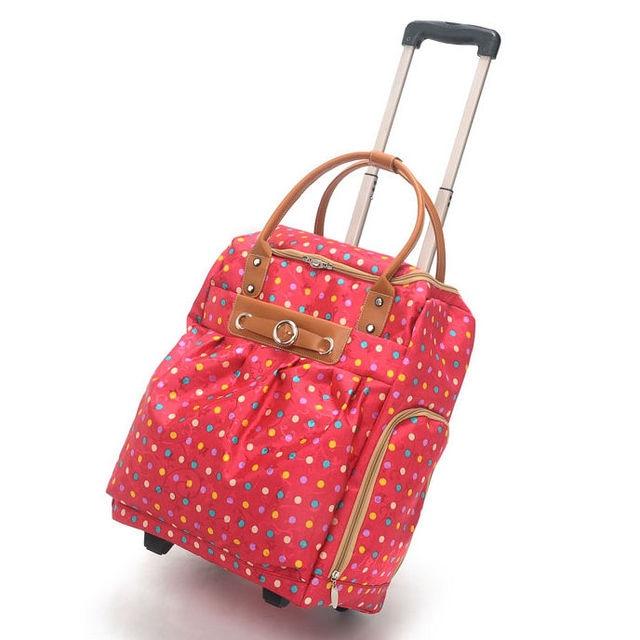 Travel boarding trolley bag designer rolling luggage men and women ...