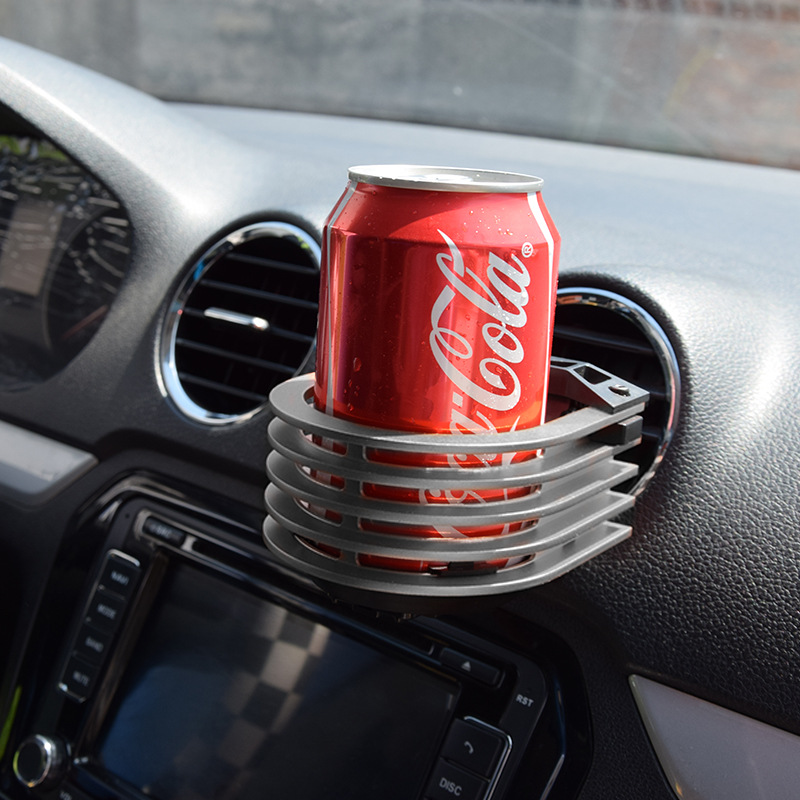 Universal Aluminum Alloy Cup Holder Car Air Outlet Drink Holder Silver Car Cup Holder