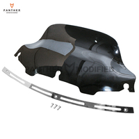 8 Motorcycle Front Windshield Fairing And Chrome Slotted Stock Batwing Trim Kit Case For Harley Touring