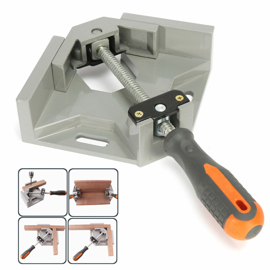 90 Degree Corner Clamp Right Angle Clamp Aluminum Alloy Woodworking Clamping Picture Frame Holder DIY Handcraft Tool hq heavy duty 90 degree abs plastic right angle clamp picture frame clip corner holder woodworking hand tool