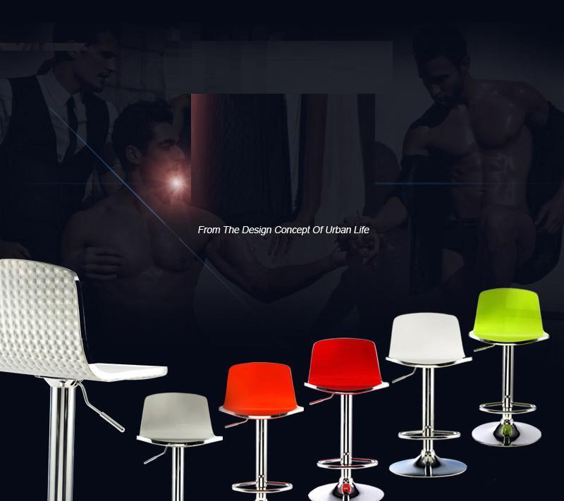 Coffee shop chair bar club stadium stool green red orange grey black color