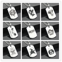 Perfect JL ONE PIECE B Western Style Army card Personalized Diy Letters Pendant Steel Necklace personality Gifts HZW02(China)