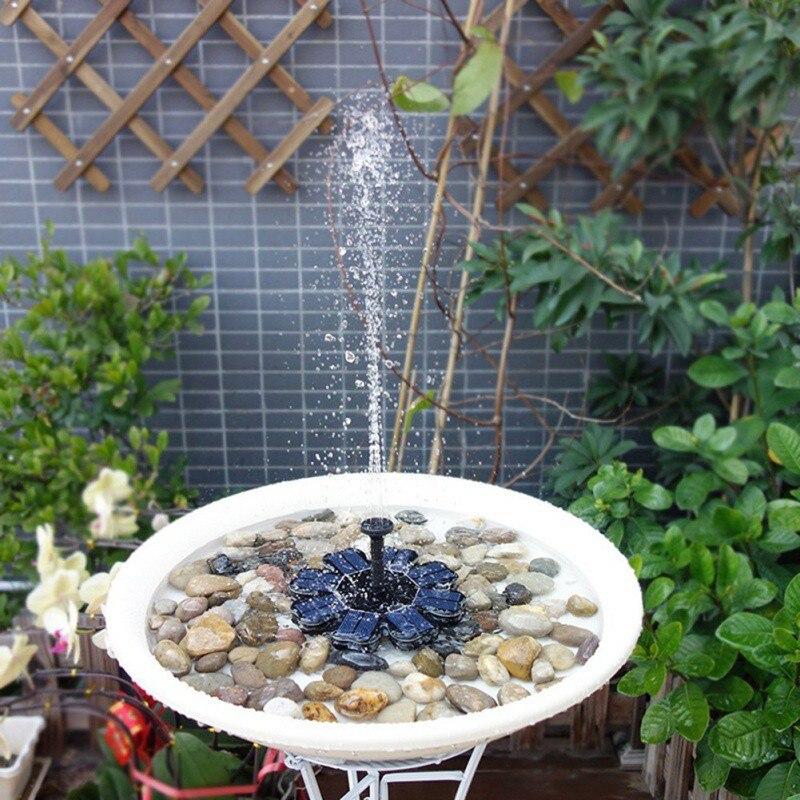 Floating Water Fountain Solar Fountain Water Pump For Garden Pool Pond Bird Bath Pond Garden Decoration