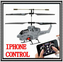 Free Shipping HOT SELLING Iphone Control RC plane UDIRC Cobra Infrared Remote Control Helicopter 3CH Shoot Missile Drone Kid Toy