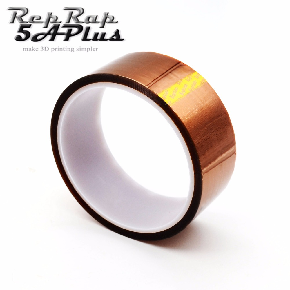 Kapton High Temperature Resistant Tape 8mm 10mm 20mm 6mm 30mm 35mm 50mm Width 33m Length Heat dedicated Tape 3D Printer Reprap 18mm high temperature resistant kapton tape