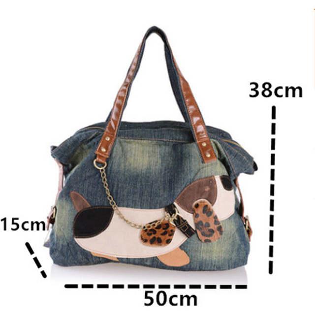 Dog Pattern Rivet Cowboy Bag Women
