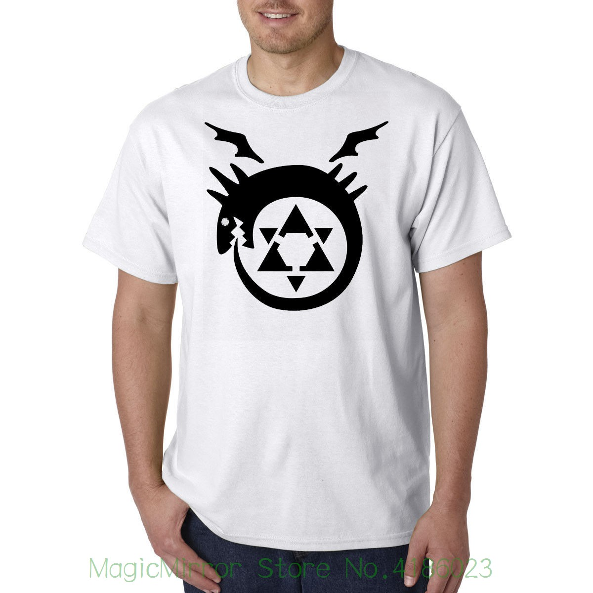 Стальной алхимик Дракон аниме ТВ-шоу Awesome футболка best подарок на день рождения Для мужчин бренд печатных 100% хлопок футболка