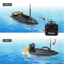 Flytec 2011-5 Fish Finder 1.5kg Loading 500m Remote Control Fishing Bait Boat RC Boat Toys For Fishing Lovers And Fisherfolks