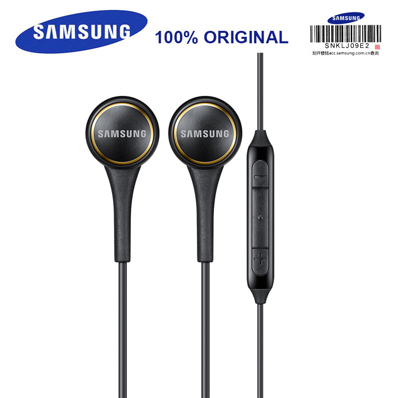 цена на SAMSUNG EO-IG935 In-ear Sport Headsets with Mic 3.5mm 1.2m Stereo Music Earphones for Samsung S9 S9Plus S8Edge Android Smarphone
