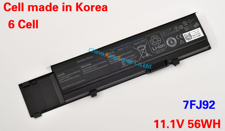 ФОТО 11.1V 56WH Korea Cell Original New Laptop Battery for DELL Vostro V3400 V3500 V3600 V3700 7FJ92 04D3C Y5XF9 4JK6R 04GN0G 6 CELL