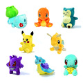 "8pcs/set  Mini Poke GO Figure Plush Doll Toy 5.5"" Pikachu Charmander Gengar Eevee Snorlax Lapras Torchic Figure Toy Gift"