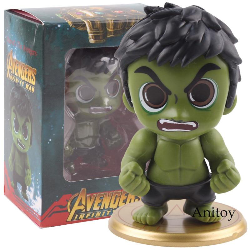 Marvel Avengers Infinity War Action Figures Superhero Hulk Bobble Head Figure PVC Car Decoration Home Collectible Model Toy 9cm
