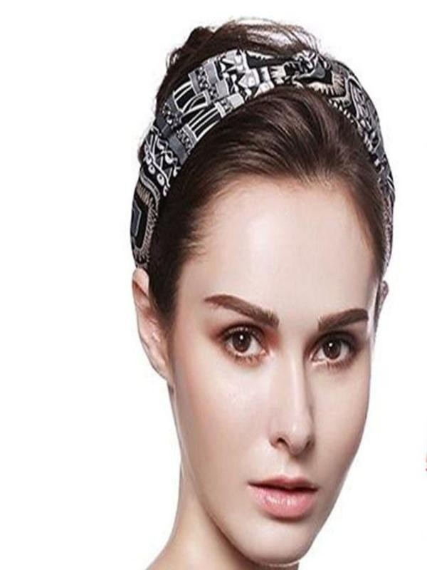 snowshine YLW  Women Yoga Sport Elastic Floral Hair Band Headband Turban Twisted Knotted freeshipping