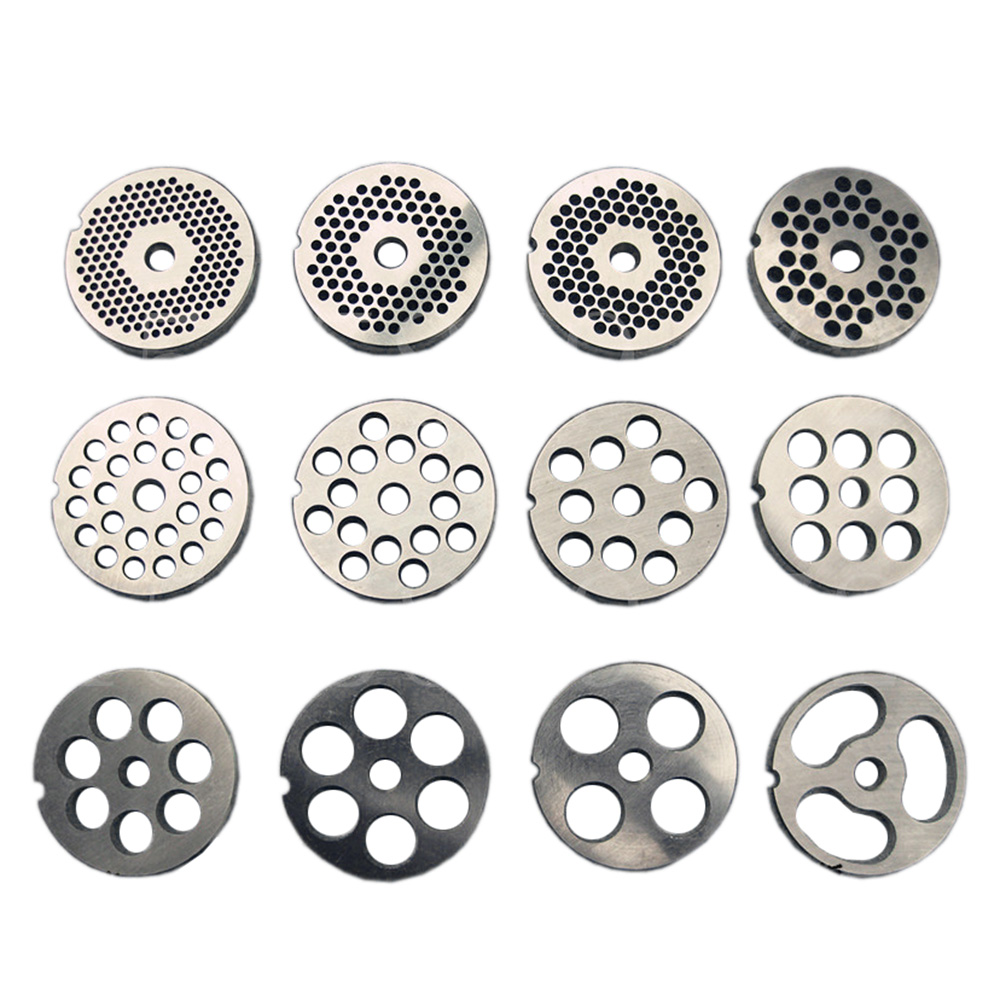 #22 Type Replaceable Meat Grinder Plate Hole 3-24mm Manganese Steel Chopper Disc For Mixer Food Chopper
