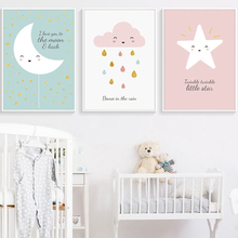 Nordic Poster Cute Cartoon Prints Canvas Posters Oil Painting Wall Pictures For Kids Bedroom Home Decoration Accessories
