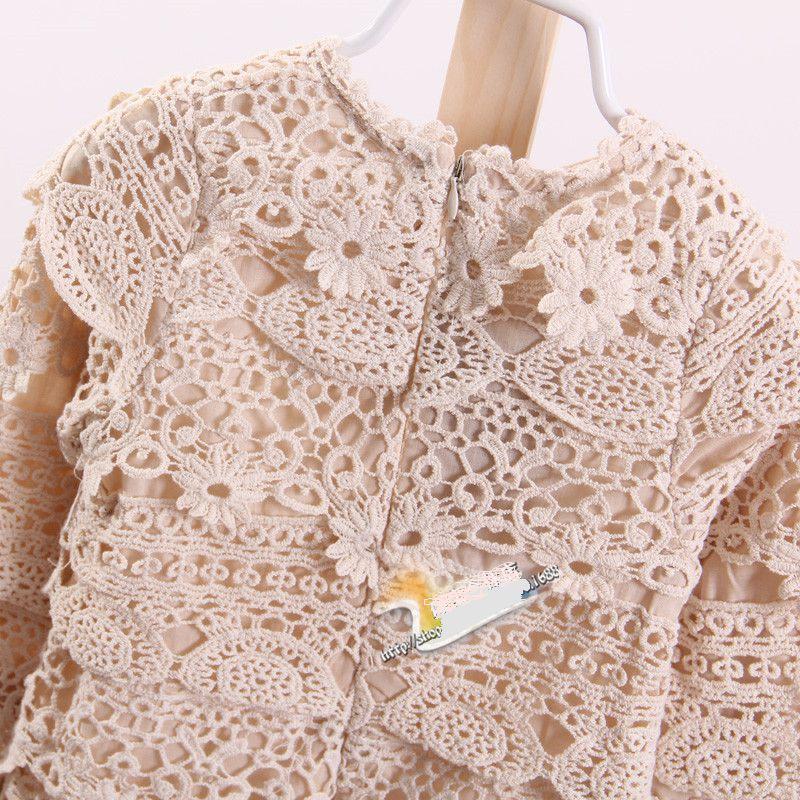 Cream cotton lace dress