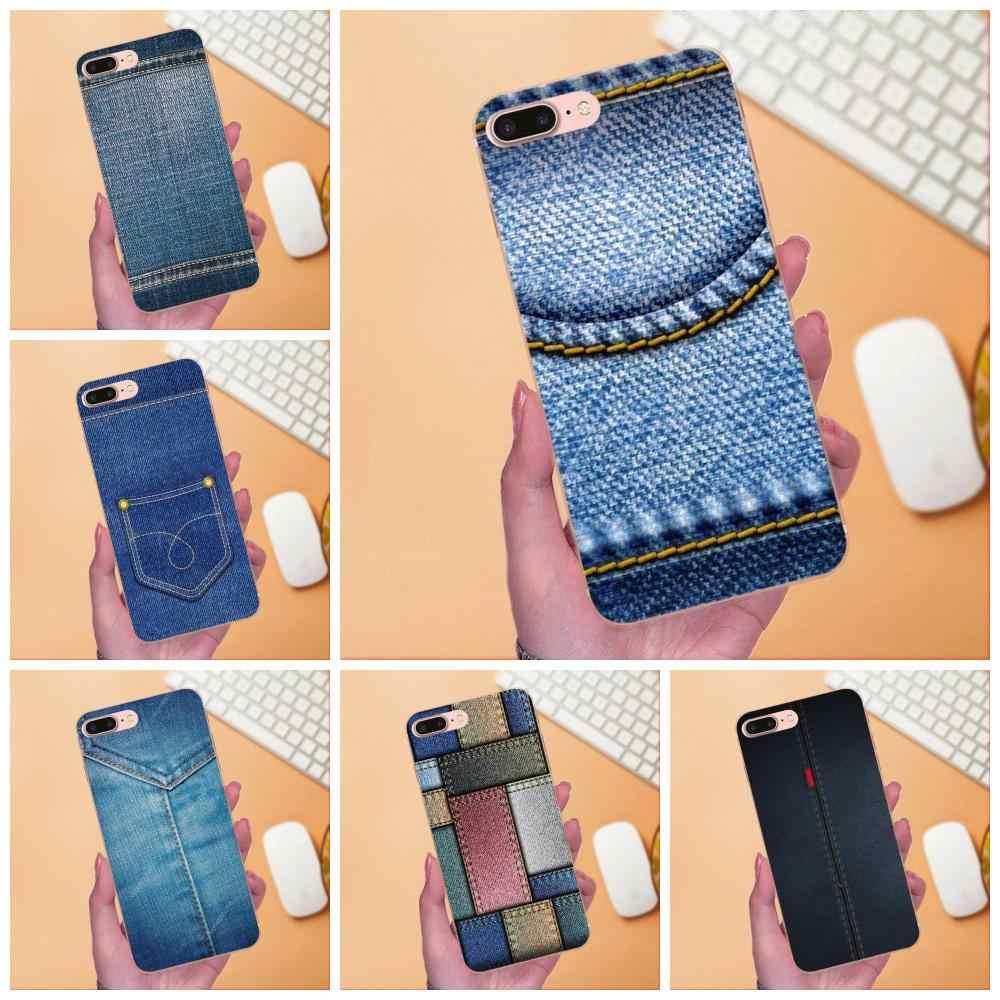 Голубой джинс деним дизайн сотового телефона чехол для Galaxy A3 A5 A7 On5 On7 2015 2016 2017 Grand Alpha G850 Core2 премьер S2 I9082