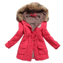 Warm Winter Jacket Women Parka Thicken Winter Coat Women Medium-long Plus Size Winter Coat Hooded Slim Cotton-padded Coat