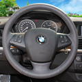 Case for BMW X5 X6 Steering wheel covers Car styling DIY genuine leather Anti-slip breathable covers Steering covers