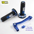 7/8 ''Pro Taper Mango Azul Grips 2'' Plegable de la Aleación de palanca de cambios + combustible Gas Cap Vent Fit KAYO Pit Pro Dirt Pit bike Cross MX