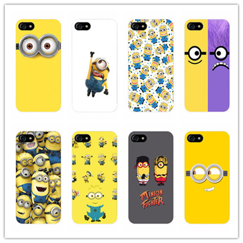 Cartoon Minions Minnie Case For Samsung Galaxy s8 s9 plus s6 s7 edge s5 for iphone 5s 5 SE 6 6s 8 7 plus X phone cases