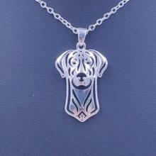 2018 Doberman Necklace Dog Animal Pendant Gold Silver Plated Jewelry For Women Male Female Girls Ladies Kids Boys Cute N025(China)