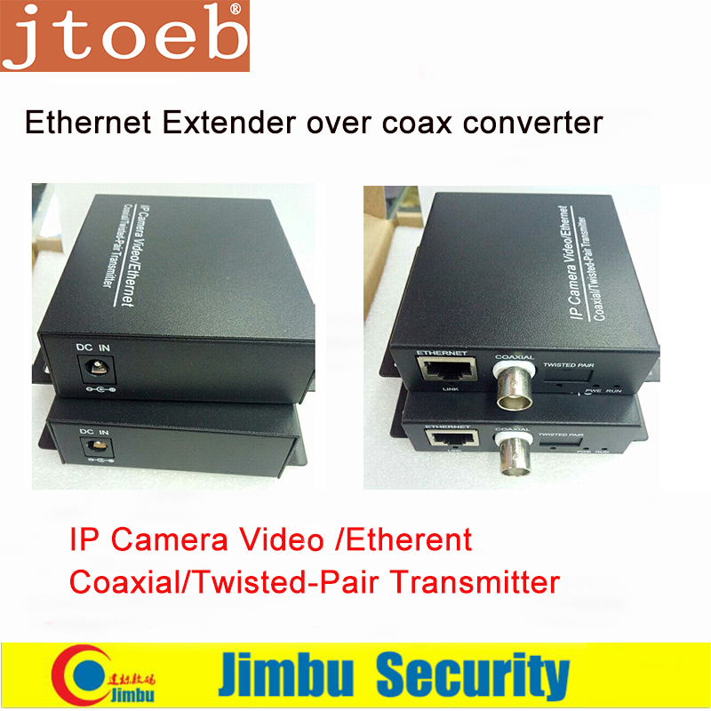 Ethernet Extender Over Coax Converter 2KM For IP Cameras Video / Ethernrt Coaxial / Twisted-Pair T