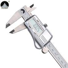 Calibrador Digital 0-150mm/0.01 de Acero Inoxidable Electronic Vernier Métrico/Pulgadas Micrómetro de Medición de Herramientas
