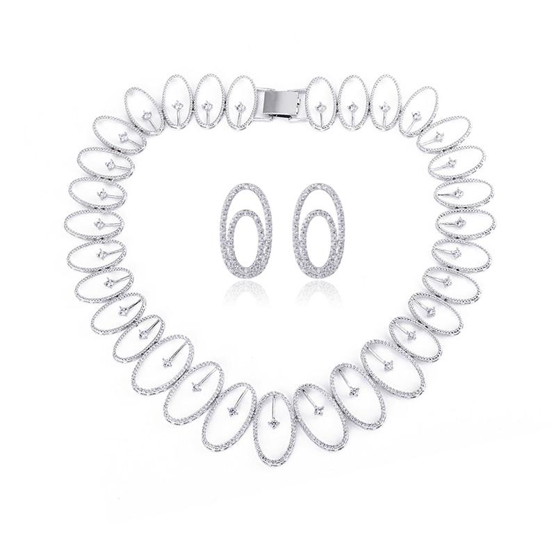 XIUMEIYIZU Fashion Design Cubic Zirconia Jewellery Sets Micro Pave CZ Wedding Jewelry for Brides