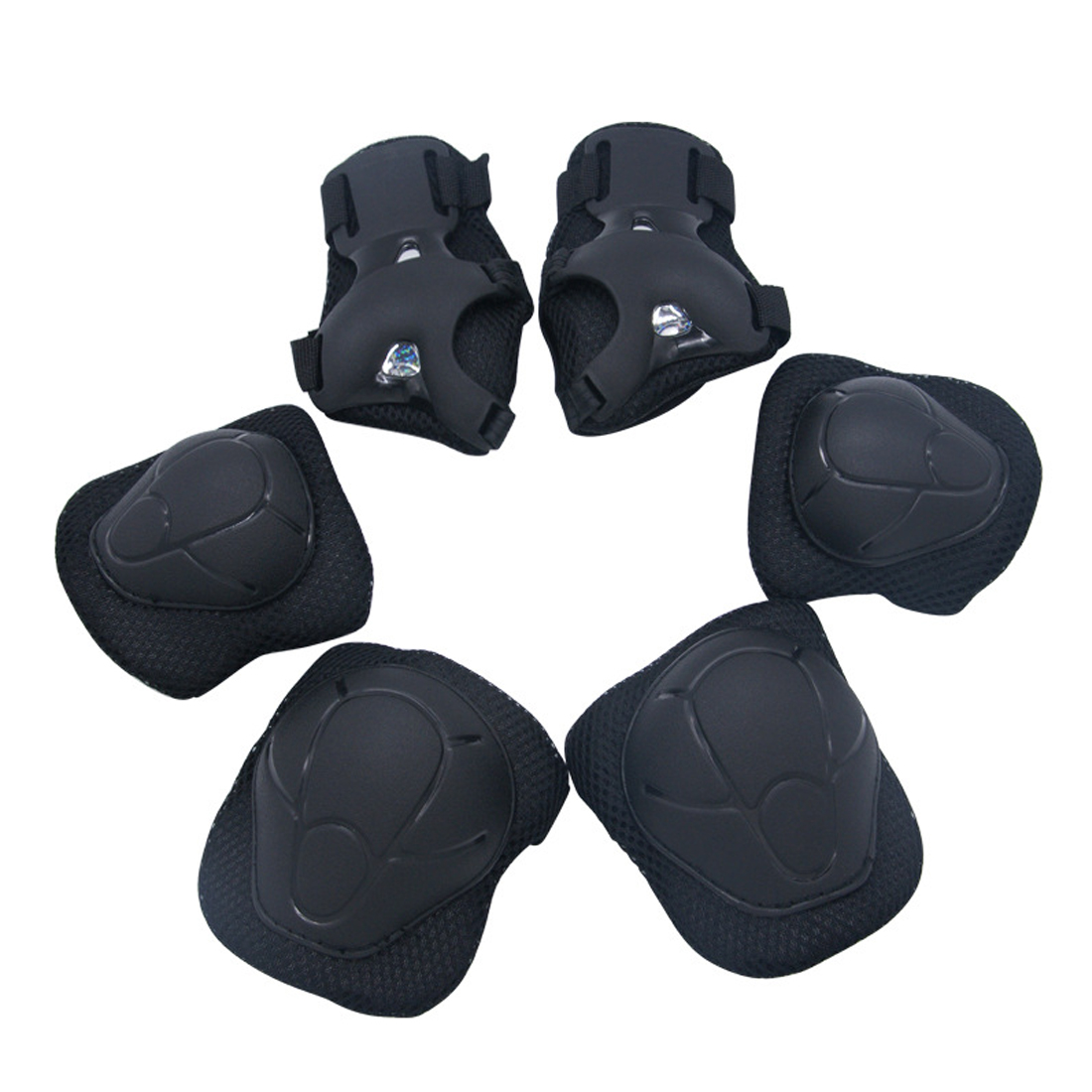 6 Set protective Set joelheira Elbow Pads Wrist Protector Protection for Children Kids Scooter Cycling Roller Skating