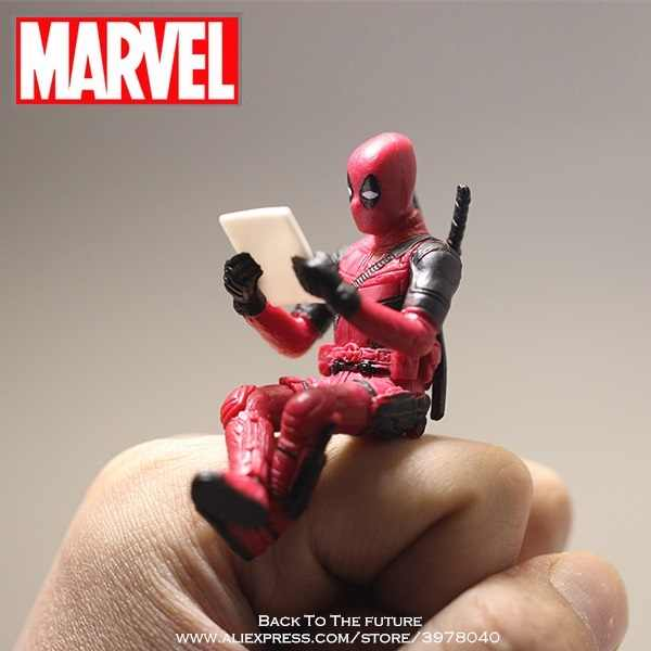 Disney Marvel X-men Deadpool 2 Action Figure Postur Duduk Model Anime Mini Doll Dekorasi PVC Koleksi Figurine Mainan model