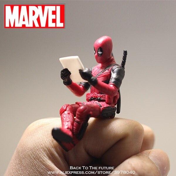 Disney Marvel x-men Deadpool 2 figura de acción sentado modelo de postura Anime Mini muñeca decoración PVC colección estatuilla juguetes modelo