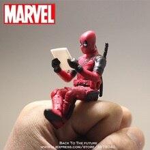 Disney Marvel x-men Deadpool 2 figuras de acción sentado postura modelo Anime Mini muñeca decoración PVC colección figurita Juguetes modelo