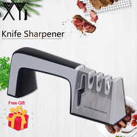 XYj Knife Sharpener 4 in 1 Diamond Coated & Fine Ceramic Rod Knife Shears and Scissors Sharpening System Kitchen Tools Available