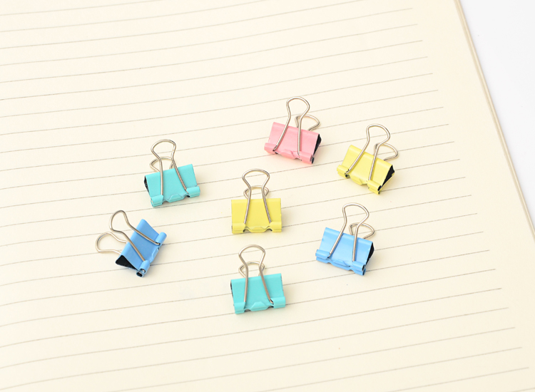 60 pcs/lot Metal Paper Clips 15mm Colorful Candy Color Clip for Book Stationery School Office Supplies High Quality