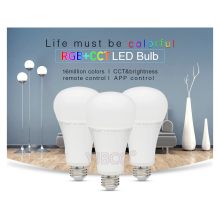 Miboxer 12W RGB+CCT Wireless FUT105 2.4G E27 LED Bulb Dimmable 2 in 1 Smart LED Light + FUT092 4-Zone 2.4G RF Remote